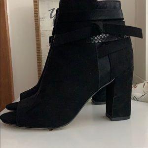Madden Girl Black Open Toed Booties
